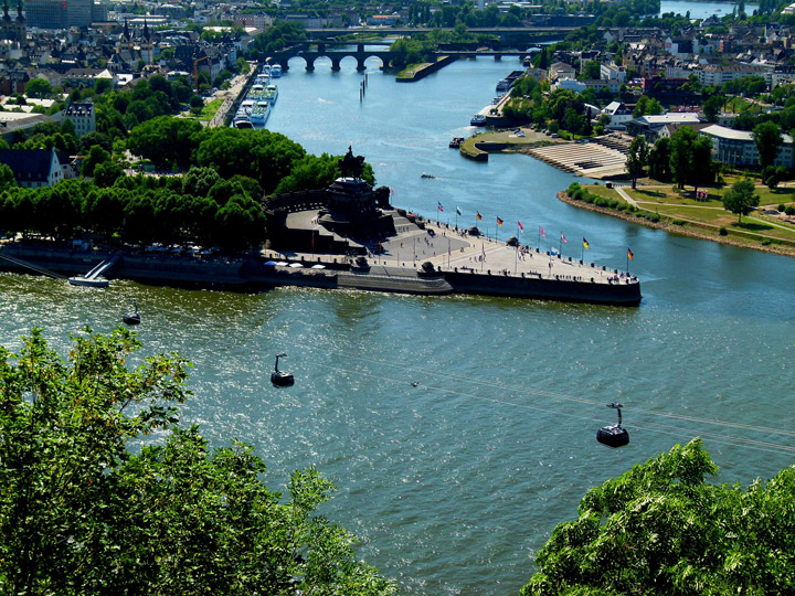 Rhine River Pass Cologne Germany